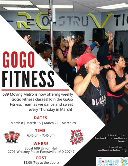 Gogo Fitness Class Flyer Time Change 1
