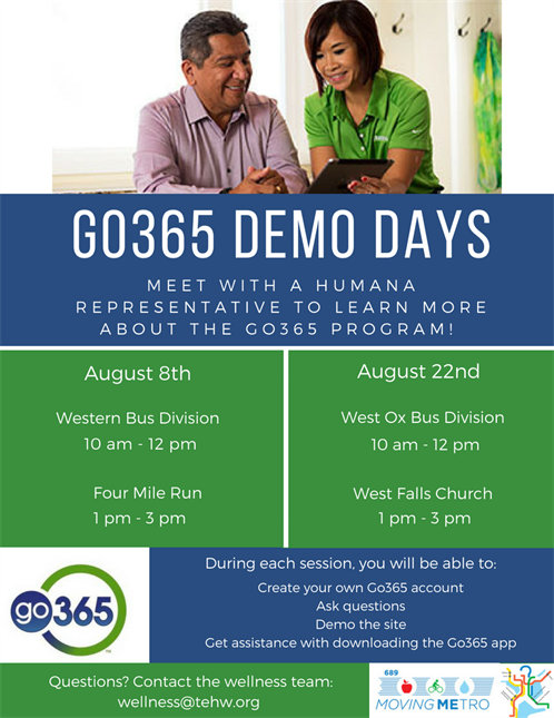 Go365 Demo Days August Dates