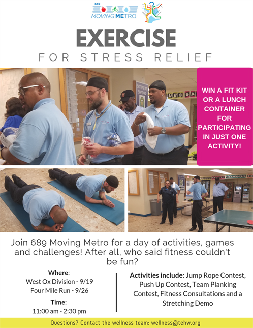 Exercise For Stress Relief Flyer Revised September Dates 1