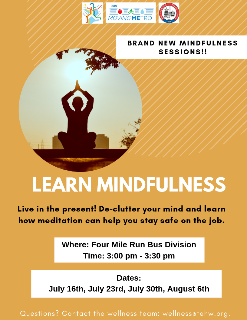 Learn Mindfulness   Transit Employees' Health & Welfare Fund